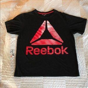 Reebok Mens T-Shirt Black Red White Size Large